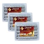 Arab Charcoal Burner ถ่านพิเศษ ชาโคล สำหรับจุดไฟเผา ไม้กฤษณา ไม้จันทน์ กำยาน มดยอบ ยางไม้หอม 100% ไร้กลิ่น ไร้ควัน ไม่มีประมทุกชนิด ทำจากธรรมชากายไฟ ปลอดภัย ไร้สารเคมี จุดนานถึง 3 ชม ต่อชิ้น - 3 กล่อง
