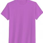 เสื้อยืดสีพื้น คอกลม สีม่วง