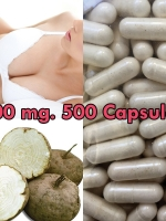 PUERARIA MIRIFICA NATURAL BREAST BUST ENLARGEMENT 100 CAPSULES 500 mg.: 5 PACK
