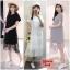ชุดเดรส คนท้อง ผ้ายืด+ผ้าก๊อซ แขนสั้น มีสีขาว เทา ดำ ไซส์ XL XXL XXXL ค่ะ