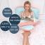 ที่นอนสำหรับคนท้อง Queen Rose U Shaped Pregnancy Body Pillow with Zipper Removable Cover (Pink and Blue) thumbnail 2